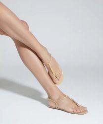 Rasteira Crystal Minimal Nude Schutz